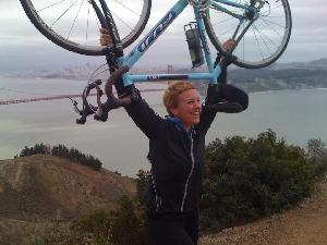 My rock star daughter who doesn't let a big BUT stand in her way. She rode her bike from San Francisco to Los Angeles. Now she's in Hawaii twirling fire.