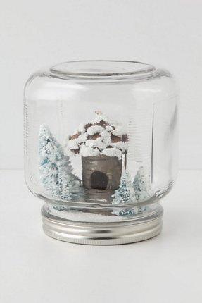 Mason Jar Snowglobe from Anthropologie