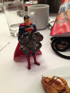 Even Superman got fancy for the RITA Awards.